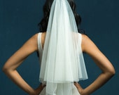 Katie Middleton Soft Drop Veil, Circle Veil, Wedding Veil, English Net Veil with Blusher, Bridal Veil, Elbow Length Veil