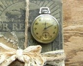 Vintage Pocket Watch, Stopwatch, New Haven Pocketwatch With Original Box, Mens Pocket Watch, 1950s Stopwatch, Watch Repair and Parts
