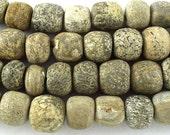 Stegodon Mammoth Fossilized Bone Beads 10-15mm (RF605)