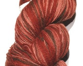 Aade long Artistic (Kauni) 100% wool, 270g (9.52 oz) 2 ply yarn in red-pink-brown shades, self-striping, long smooth changeover