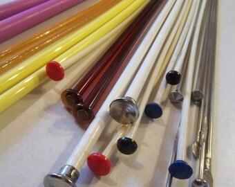 SALE - Vintage - Knitting Needles -Metal - Plastic - Various Sizes - Various colors - 24 Needles - 12 Sets - Crafting - Knitting