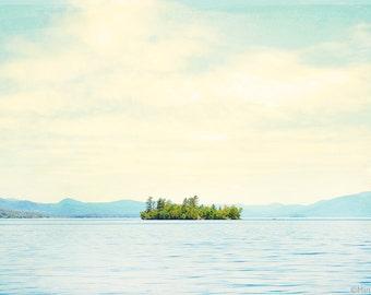 "Large Wall Art // Landscape Photography // Serene Landscape Photography // Modern Decor // Large Living Room Art // ""Lake Island"""