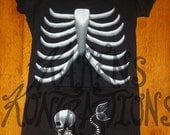 Mermaid Baby Maternity Sized Tee Skeleton Shirt