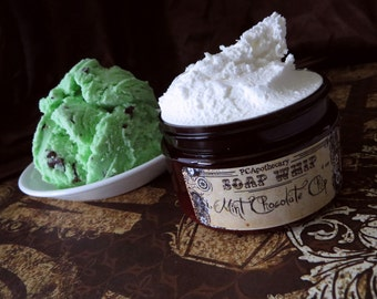 Mint Chocolate Chip (soap whip)