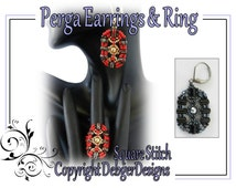Perga Earrings and Ring- Beading Pattern Tutorial