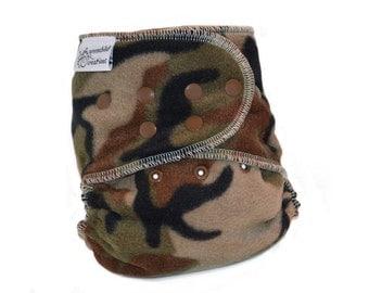 Cloth Diaper Cover OS, Fleece - Camouflage, camo