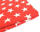 Red White Stars Pillowcases Patriotic Set of 2