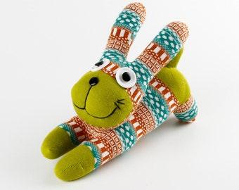 Handmade Orange Sock Rabbit Bunny Stuffed Animal Doll Baby Toys Christmas Gift New year Gift