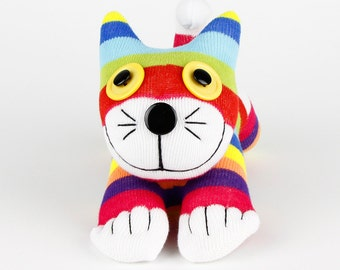 Handmade Sock Cat Kitty Stuffed Animals Doll Baby Toys Christmas Gift New Year Gift Birthday Gift