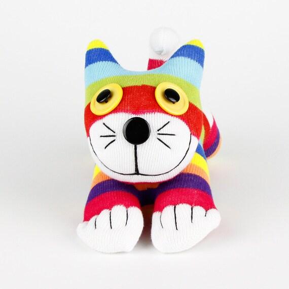 Handmade Sock Cat Kitty Stuffed Animals Doll Baby Toys Christmas Gift New Year Gift Birthday Gift