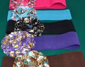 Satin Flower cinch belt Wide elastic stretch corset belt, Pink wide belt,one size 24 to 30 inches - 3 inch wide stretch belt