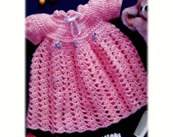 Crochet Pattern - Crochet Baby Dress - 0 to 3 months and 3 - 6 months included - Easy Crochet