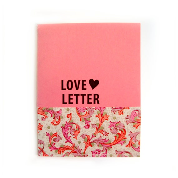 Love Letter, Minibook to Someone You Love (boyfriend, wife, husband, child, friend, baby, girlfriend, grandma, parent) in pink valentine