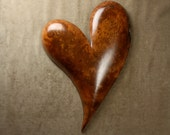 Wood Heart Wood Carving Personalized 5th Wedding Anniversary Gift, A Redwood wall Art Mothers Day Gift by Gary Burns the treewiz
