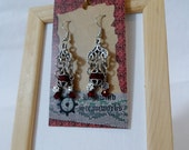 Chandelier Earrings -Ruby and Red