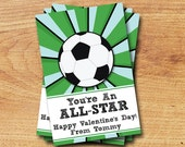 Soccer Valentines - Printable Mini Valentines Card