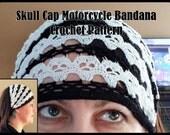 Skull Cap Motorcycle Bandana Crochet Pattern