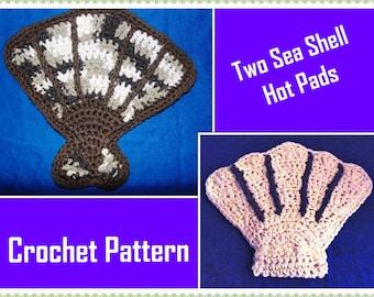 Two Sea Shell Hot Pads Crochet Pattern