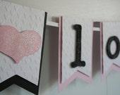 Valentines Day Banner - Love Banner - Valentines Decor - Valentine Photo Prop - Wedding Decor - Wedding Photo Prop