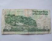 Edinburgh Castle Scottish Pound Banknote Paper Money 80s 90s