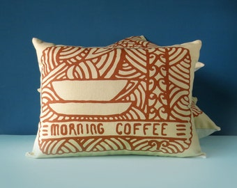 Morning Coffee Printed Cushion / Biscuit Cushion - Cookie Pillow