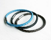 Braided Leather Bracelet (many color to choose)