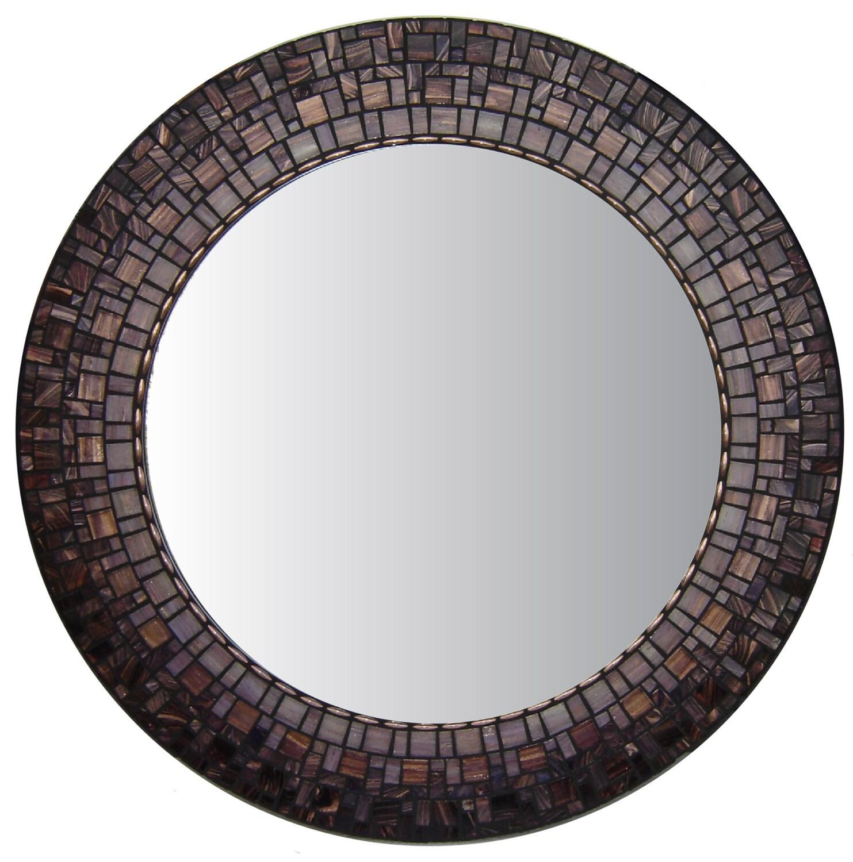 Fleuri rond miroir miroir mural mosa que miroir miroir for Miroir rond mosaique