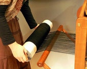 Wool 150 x 20 m Black wool Ready-made warp