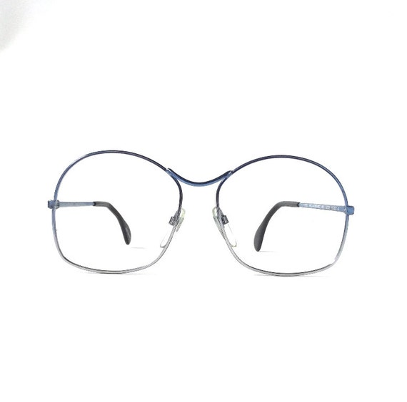 Bright Blue Glasses Frames : vintage 1980s NOS neostyle round metal by RecycleBuyVintage