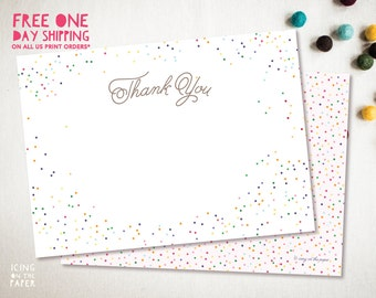 Sprinkle Birthday Party Invitation Instant Download Thank You Card