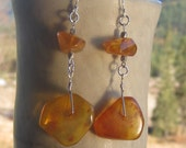 Honey Baltic Amber, Silver Earrings