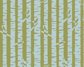 KNIT Organic Cotton Fabric- Monaluna- Meadow- BIRCHES