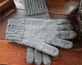 Knit these SUPER-EASY Men's Gloves Easy Pattern, Fast Knittting, and warm!