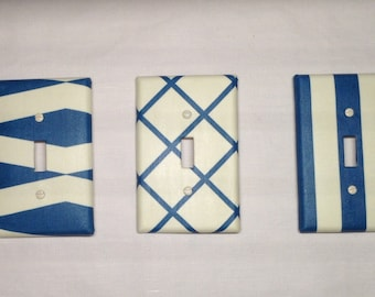 Geometric pattern switch plate cover