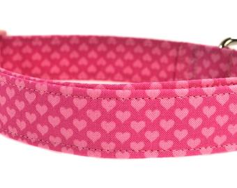 Pink Hearts - Hearts Dog Collar