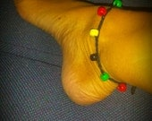 crochet rasta anklet.