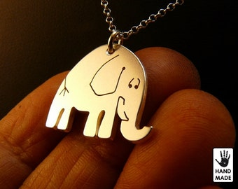 Elephant Handmade Sterling Silver .925 Necklace in a gift box