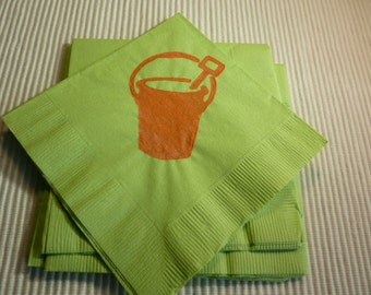Summer Sand Pail Paper Cocktail/Lunch/Dinner Napkins - Package of 24