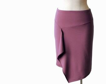 Pencil skirt, Wrap skirt, Knee length skirt, Custom skirt,Spring skirt, Winter skirt, Womens clothing, Plus size clothing, Plus size skirt,