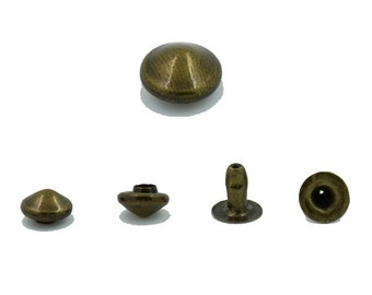 100 pcs.Antique Brass Cone Rivets Studs Decorations Findings 6 mm. Co Br 6 19 RV 3
