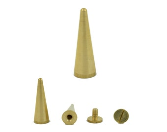 5 sets. Gold Cone Screwback Studs Leathercraft Decorations Findings 9x30 mm. Co SCW 930 146