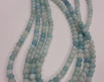 6mm Round Amazonite bead strand
