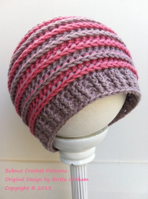 Crochet hat pattern in newborn baby kids and ladies sizes