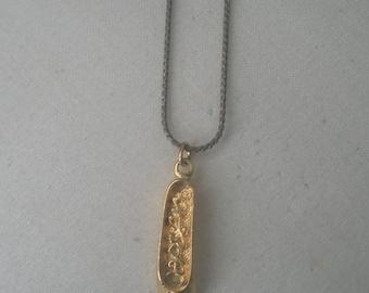 Vintage Gold Tone Capezio Ballet Slipper Pendant Necklace