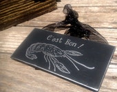 CAJUN crawfish - Cest Bon  put a little CAJUN in your kitchen  - Wood ready to hang with organza ribbon