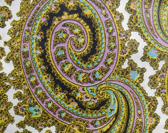 Vintage Paisley Floral Print Cotton Fabric 7 yards