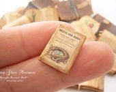 New Price Miniature Closed Nest and Egg Magazine 2 for Dollhouse 1/12 Scale