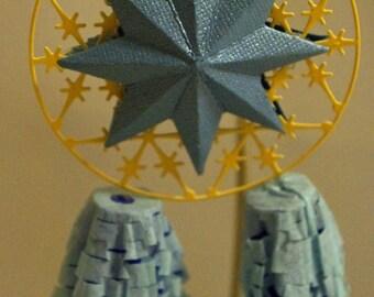 One  Blue Miniature Filipino Christmas Lantern aka Parol - Great Wedding Giveaways