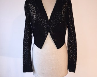Vintage cropped lace jacket