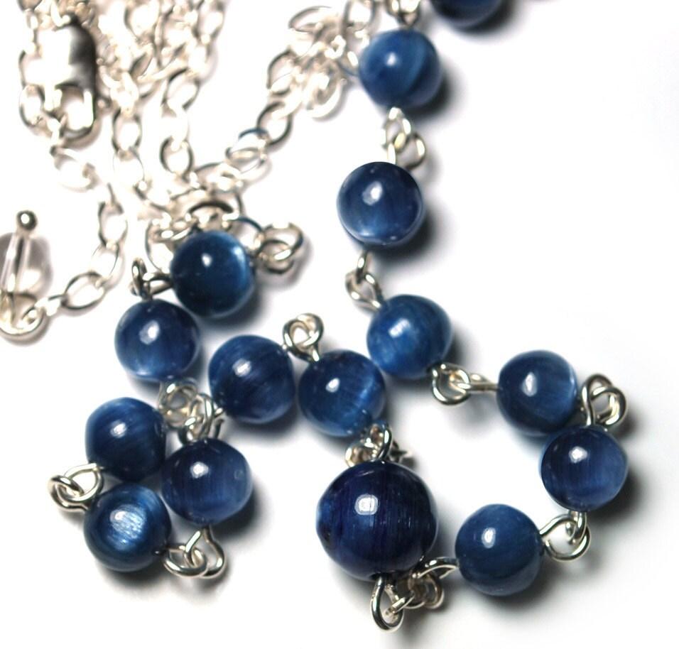 Kyanite Third Eye Chakra Necklace Spiritual Jewelry By